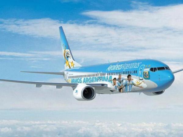 Voici l'avion qui transportera la slection d'Argentine au Mondial 2014.