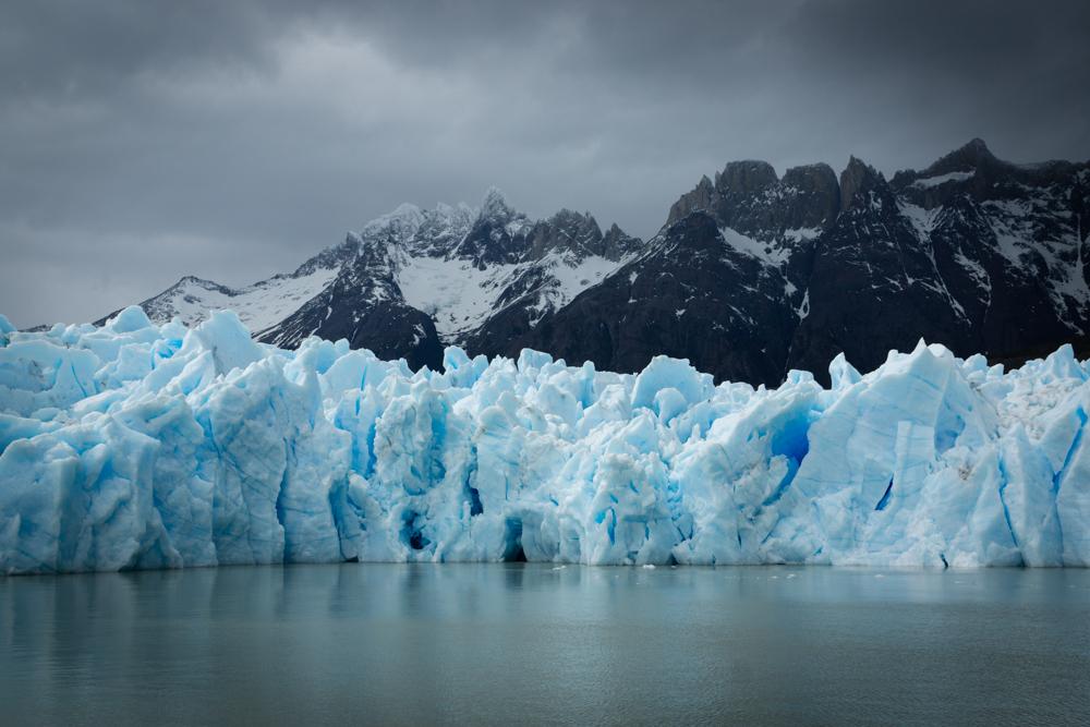 Glacier Grey vu depuis le lac  Graldine Ru