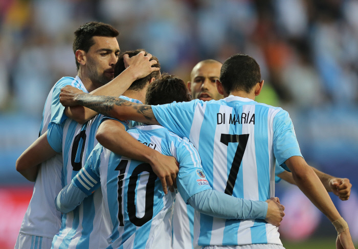 FOOTBALL : Argentine vs Jamaique - Copa America - Vina Del Mar - 20/06/2015
